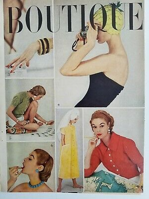 1950s Boutique fashion Jean Patchett hat clothing ad pages