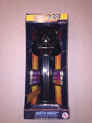 Star Wars Darth Vader Giant Pez Dispenser with Sound and Refills FREE SHIPPING