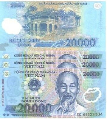 MINT VIETNAM 10 x 20000 DONG POLYMER BANKNOTES-UNCIRCULATED! FREE S&H.