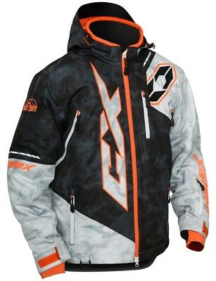 Castle X Stance Alpha Mens Snow Jacket Black/Orange Large