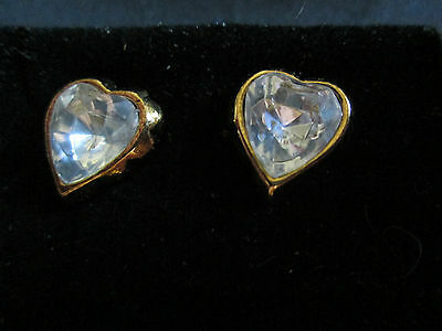 Vtg. Avon True To The Heart Earrings W/surgical Steel Posts 1992**new In Box**