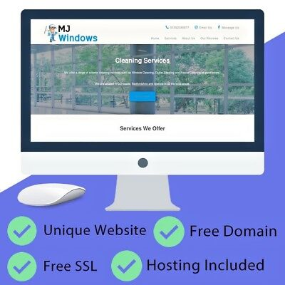 Unique Responsive Business Website (Free Domain, Hosting Included, Emails + SSL)