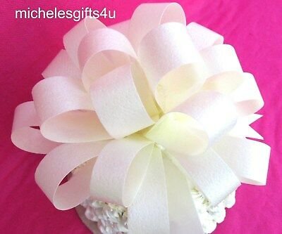 "Large White Cake Wafer Paper Bow Ribbon 7""x3"" Edible Rice Wafer Paper"