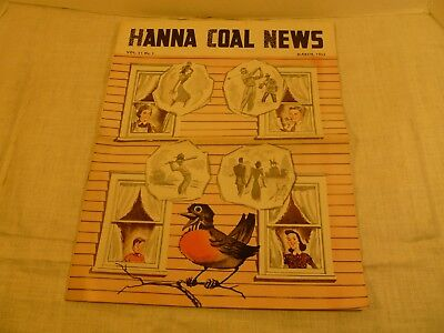 Vintage March, 1953, (Hanna Coal News) Monthly Magazine