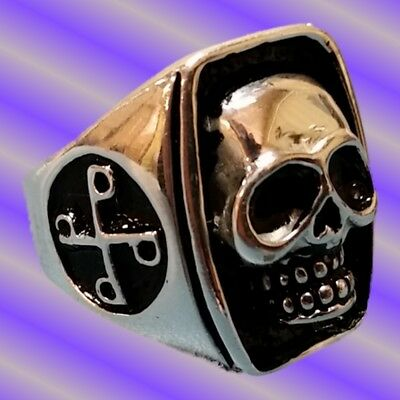 The Phantom Skull Ring, Silver Plated, Sizes 9 10 11 12 13 14 15 + a free ring