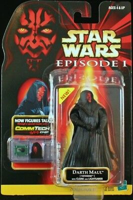 Star Wars I: DARTH MAUL (Tatooine) with CLOAK & LIGHTSABER. New, Sealed!