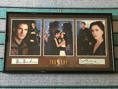 Farscape Claudia Black Ben Browder Dual Autographed Photo Framed Signed