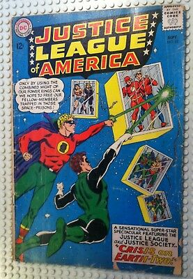 1963 Dc Comics Justice League Of America # 22 Crisis On Earth Two