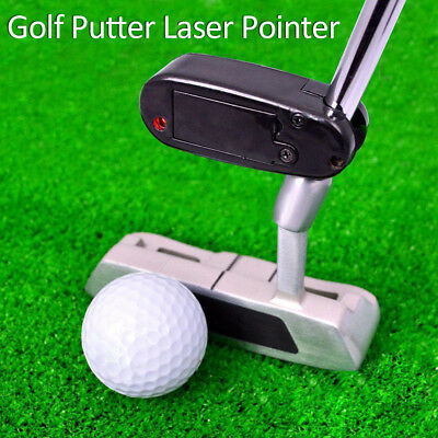 Black Golf Putter Laser Pointer Putting Training Aim Line Corrector Improve Aid