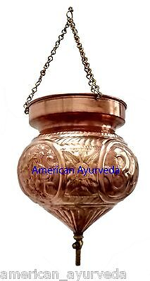 Pure Copper Shirodhara Pot with Control Valve embossed Ganesha for Panchkarma
