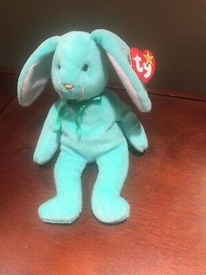 "Ty Beanie Baby HIPPITY the Rabbit RARE with Multiple Tag ERRORS-""ORIGIINAL"""