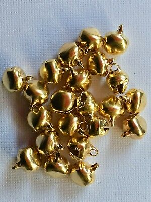 BB 10mm CHRISTMAS JINGLE BELLS GOLD pk of 20 or 50 craft bell xmas