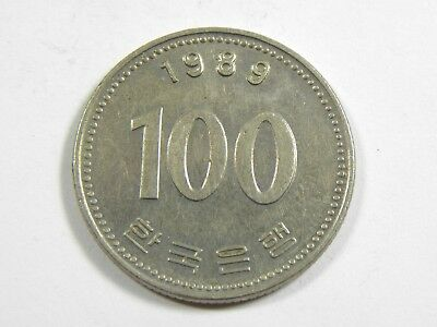 100 Won South Korea 1989 - Admiral Yi Sun-sin  #6506