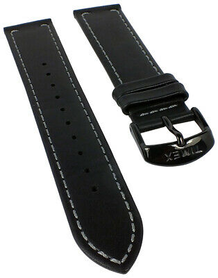 Timex Unisex the Waterbury Spare Band 20mm Leather with Stitching Black for