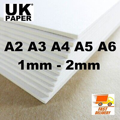 A5 A4 A3 A2 Greyboard Grey White Card Backing Board Sheets Paper Model Craft Art