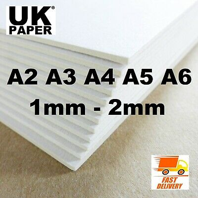 A5 A4 A3 A2 White Greyboard Grey Card Backing Board Sheets Paper Model Craft Art