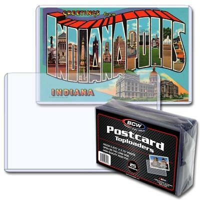"""Post card toploaders 5.875"""" x 3.75""""  pack of 25 BCW new"""