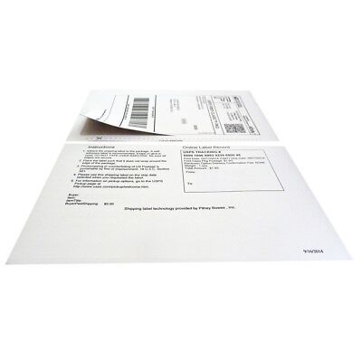 Paypal and Ebay ClickNShip Adhesive Labels with Tear off Paper Receipt