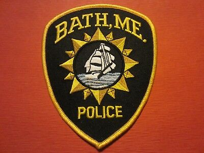 Collectible Maine Police Patch, Bath, New