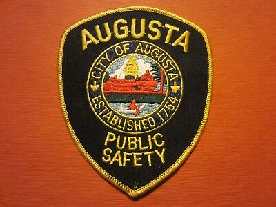 Collectible Maine Police Patch, Augusta,Capital City, New