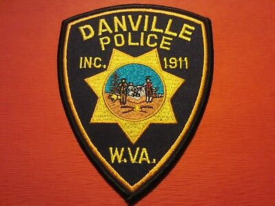 Collectible West Virginia Police Patch,Danville, New