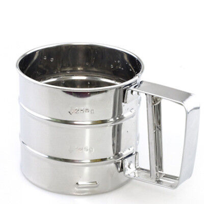 Stainless Steel Flour Sieve Icing Sugar Sieve Fine Mesh Cooking Silver Hot 1pc