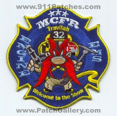 Montgomery County Fire and Rescue Department Station 32 Patch Maryland MD