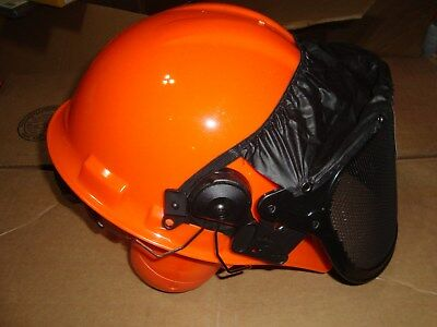HiVis Orange Woodsmen Chainsaw Safety Helmet+STIHL Tool { Read Description }