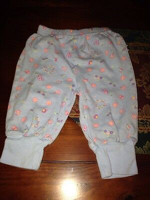 Baby Okie-Doke Infant Girls Pair Of Pants Size 3/6 Months , Floral Print.