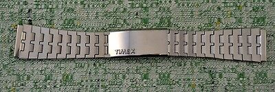 Vtg Timex Stainless Steel Link Watchband Deployment Clasp Chrome Finish NEW NOS