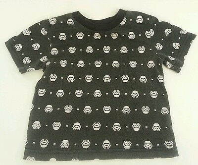 Star Wars Boy's Shirt PJ Top Toddler 18 Months Storm Troopers Black T Shirt GUC