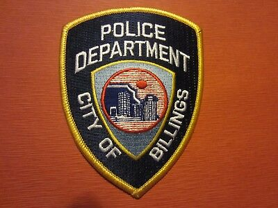 Collectible Montana Police Patch,Billings, New
