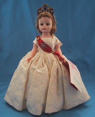 Vintage Madame Alexander CISSETTE QUEEN Doll in Gown & Crown w/ TAG  *LOVELY*