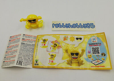 Se788 Emojoy - Timbro + Bpz Kinder Merendero Italia 2018 Emoji Collection