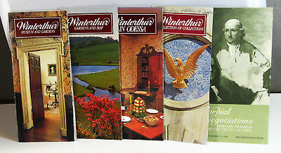Lot of Five 1983 Winterthur Museum and Gardens Tourist Brochures - Lot O406