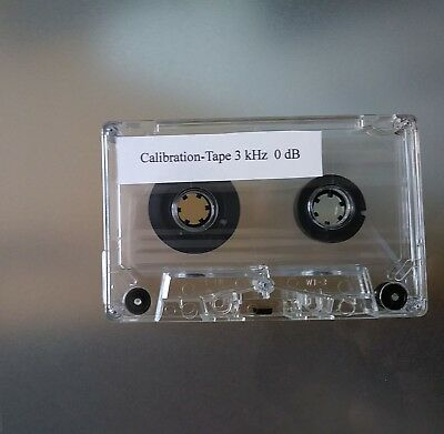 3 kHz Kalibrier Test-Kassette zur Tapedeck Speed Justage Calibration Tape