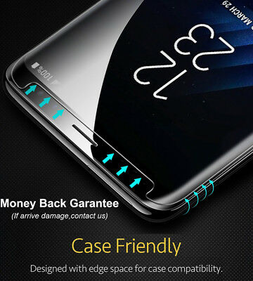 Friendly Real Tempered Glass Screen Protector Case For Samsung Galaxy S9 S8 Plus