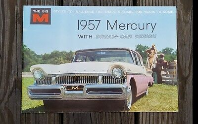 1957 Mercury Big M Car Sales Brochure Catalog Monterey Montclair Voyager