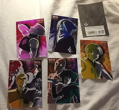 Hunter X Hunter Phantom Troupe Art Cards Hisoka Feitan Shalnark Hunterxhunter