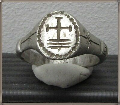 Ancient Silver Byzantine Ring** CROSS **AMAZING**TOP**