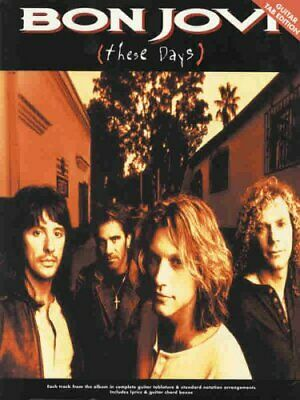 Bon Jovi: These Days, Guitar Tab Edition Book The Cheap Fast Free Post