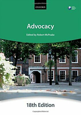 Advocacy (Blackstone Bar Manual) by The City Law School Book The Cheap Fast Free