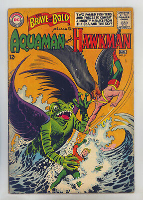 Brave and the Bold #51 FN Early S.A. Aquaman, Hawkman, 1st Old Man of the Oceans