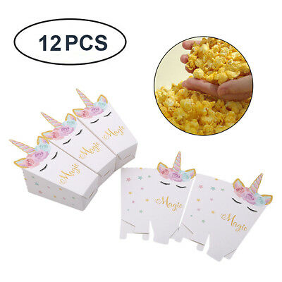 12Pcs Unicorn Candy Gift Bags Kids Birthday Treat Bag Party Candy Box B