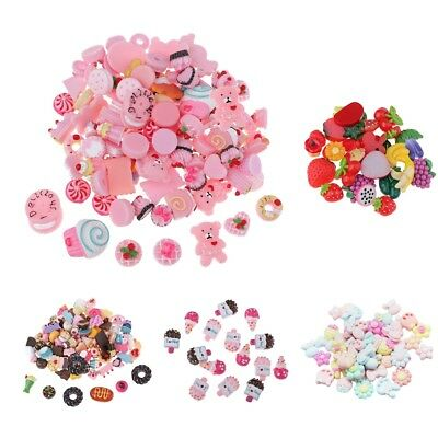15/30/50/100Pcs Mixed Kawaii Resin Cabochons Decoden Craft Charms Flatbacks DIY