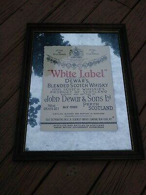 "Rare ""White Label""-Dewar's Blended Scotch Whisky Mirror"