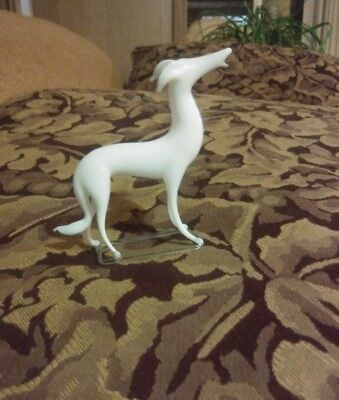 Vintage Blown MERCURY Glass Deco DOG GREYHOUND/Whippet MADE IN GERMANY HOLLOW