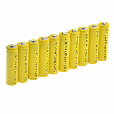 20 AA Rechargeable Batteries NiCD 600mAh 1.2v Garden Solar Ni-Cd Light LED