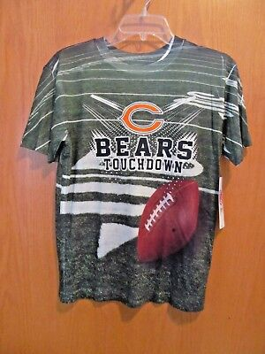 Boy's CHICAGO BEARS TOUCHDOWN 2 sided Tee shirt~Size LARGE (14-16)~New w/tags