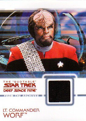 Quotable Star Trek Deep Space Nine DS9 Costume Card - C5 Worf (Black)
